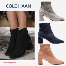 Cole Haan Suede Plain Block Heels Ankle & Booties Boots