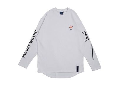 ROMANTIC CROWN Long Sleeve Unisex Street Style Long Sleeves Cotton Oversized 14