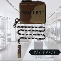 Off-White Camouflage Chain Leather Folding Wallets