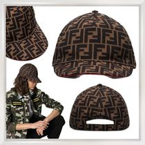 FENDI Unisex Blended Fabrics Street Style Focused Brands Caps