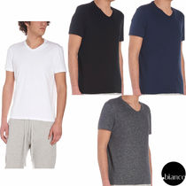 TOM FORD V-Neck Plain Cotton Short Sleeves V-Neck T-Shirts