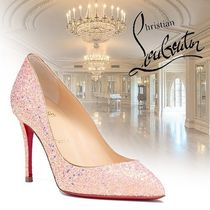 Christian Louboutin Pigalle Follies Blended Fabrics Plain Leather Pin Heels Elegant Style