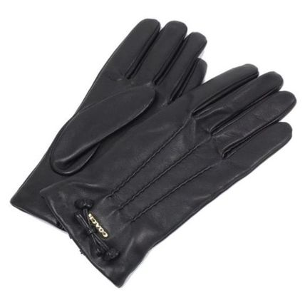 Coach Leather & Faux Leather Blended Fabrics Plain Leather Leather & Faux Leather Gloves 2