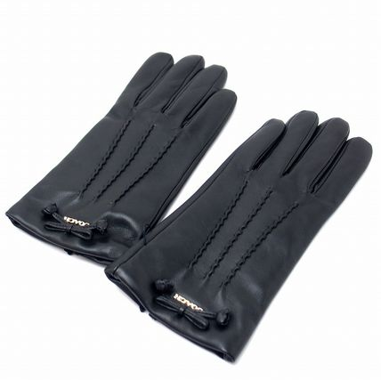Coach Leather & Faux Leather Blended Fabrics Plain Leather Leather & Faux Leather Gloves 3