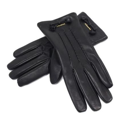 Coach Leather & Faux Leather Blended Fabrics Plain Leather Leather & Faux Leather Gloves 4