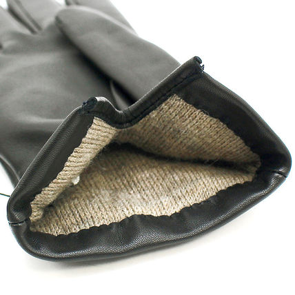Coach Leather & Faux Leather Blended Fabrics Plain Leather Leather & Faux Leather Gloves 8