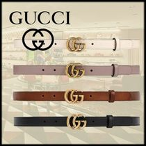 GUCCI Casual Style Plain Leather Belts
