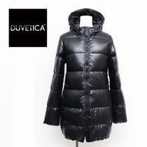 DUVETICA kappadue Nylon Street Style Plain Medium Midi Down Jackets