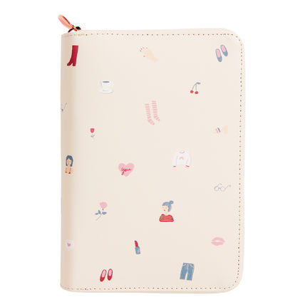 leather Planner Medium size/There She is
