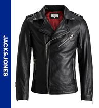 Jack & Jones Street Style Leather Biker Jackets