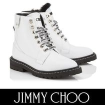 Jimmy Choo Casual Style Plain Leather Ankle & Booties Boots