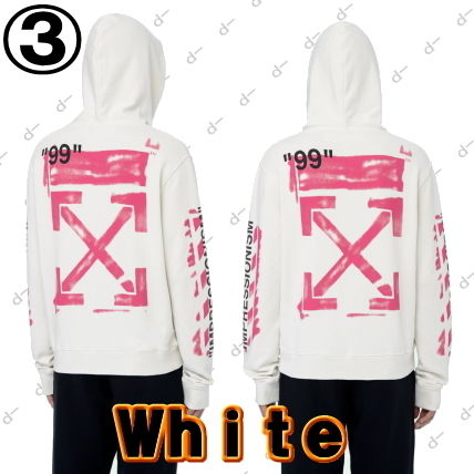 Off-White Hoodies Unisex Street Style Long Sleeves Cotton Hoodies 7
