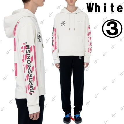 Off-White Hoodies Unisex Street Style Long Sleeves Cotton Hoodies 5