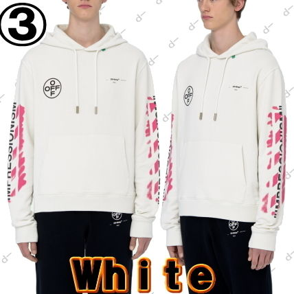 Off-White Hoodies Unisex Street Style Long Sleeves Cotton Hoodies 6