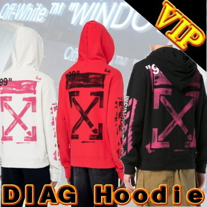 Off-White Hoodies Unisex Street Style Long Sleeves Cotton Hoodies 14