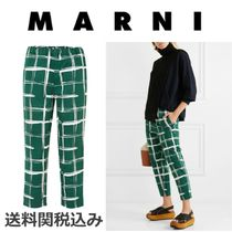 MARNI Blended Fabrics Cotton Elegant Style Cropped & Capris Pants