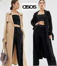 ASOS Stand Collar Coats Casual Style Plain Long Coats