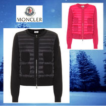 MONCLER Wool Long Sleeves Medium Logos on the Sleeves Cardigans