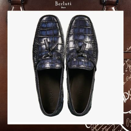 2322e0c5dc1 ... Berluti Loafers   Slip-ons Loafers Other Animal Patterns Leather Loafers  ...