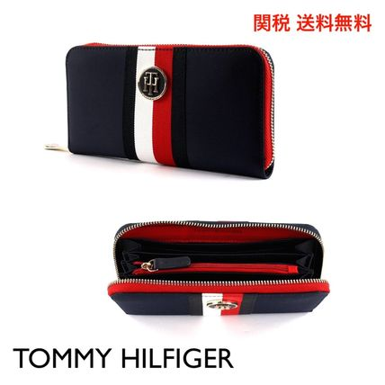 Stripes Nylon Long Wallets
