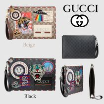 GUCCI Canvas 2WAY Clutches