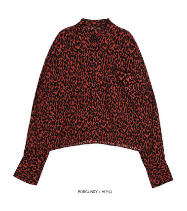 OPEN THE DOOR Shirts Leopard Patterns Unisex Street Style Long Sleeves Shirts 12