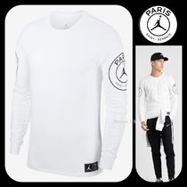 Nike AIR JORDAN Street Style Collaboration Long Sleeves Plain Cotton