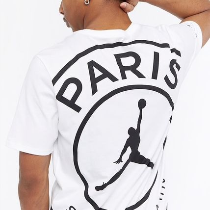 Nike More T-Shirts Street Style Collaboration Bi-color Cotton Short Sleeves 4