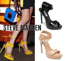 Steve Madden Open Toe Street Style Plain Leather Pin Heels Party Style
