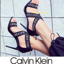 Calvin Klein Open Toe Street Style Plain Pin Heels Heeled Sandals