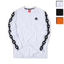 Kappa Unisex Street Style Long Sleeves Plain Logos on the Sleeves