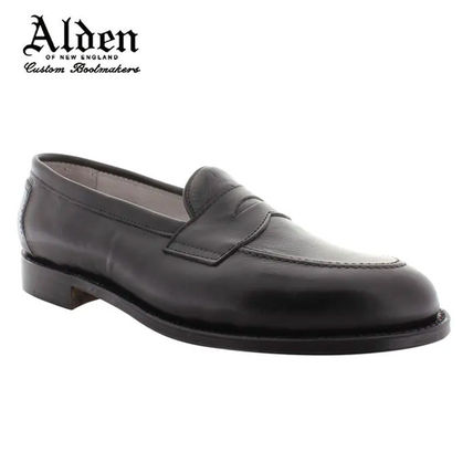 Loafers Plain Leather U Tips Loafers & Slip-ons
