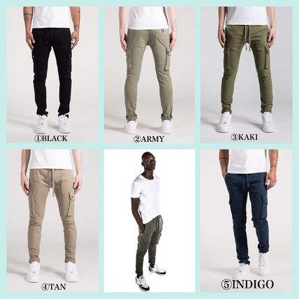 Plain Cotton Logo Pants