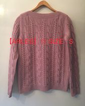 MaxMara Cable Knit Cashmere Boat Neck Long Sleeves Knitwear