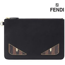 FENDI Other Animal Patterns Leather Clutches