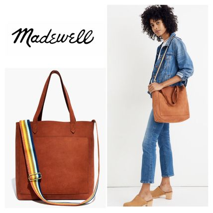 Casual Style Suede A4 Plain Totes