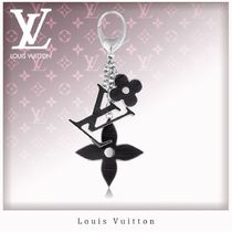 Louis Vuitton EPI Flower Patterns Unisex With Jewels Card Holders