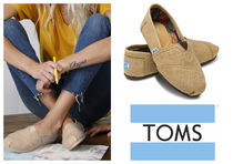 TOMS Rubber Sole Plain Slippers Slip-On Shoes