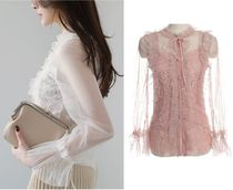 Flower Patterns Lace-up Medium Lace Elegant Style