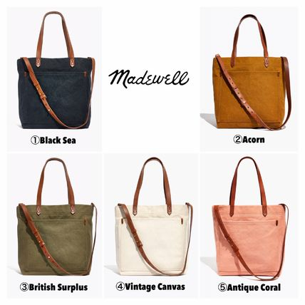 Casual Style A4 2WAY Plain Totes