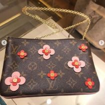 Louis Vuitton MONOGRAM Flower Patterns Monogram Canvas Blended Fabrics Studded