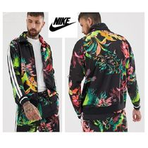 Nike Flower Patterns Unisex Street Style Track Jackets