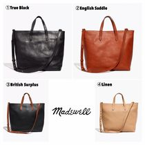 Madewell Casual Style A4 2WAY Plain Totes