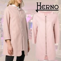 HERNO Blended Fabrics Plain Coats