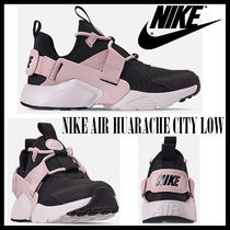 Nike AIR HUARACHE Rubber Sole Casual Style Unisex Street Style Bi-color