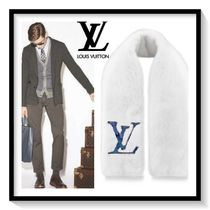 Louis Vuitton Unisex Cashmere Blended Fabrics Plain Scarves