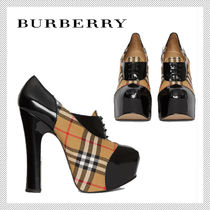 Burberry Other Check Patterns Collaboration Block Heels