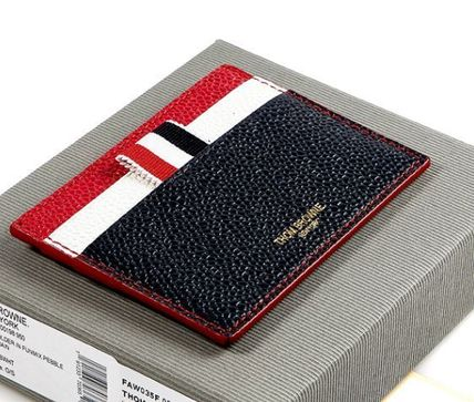 Unisex Calfskin Studded Handmade Card Holders