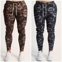 VANQUISH FITNESS Tapered Pants Camouflage Unisex Blended Fabrics Street Style