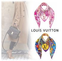 Louis Vuitton Silk Logo Lightweight Scarves & Shawls